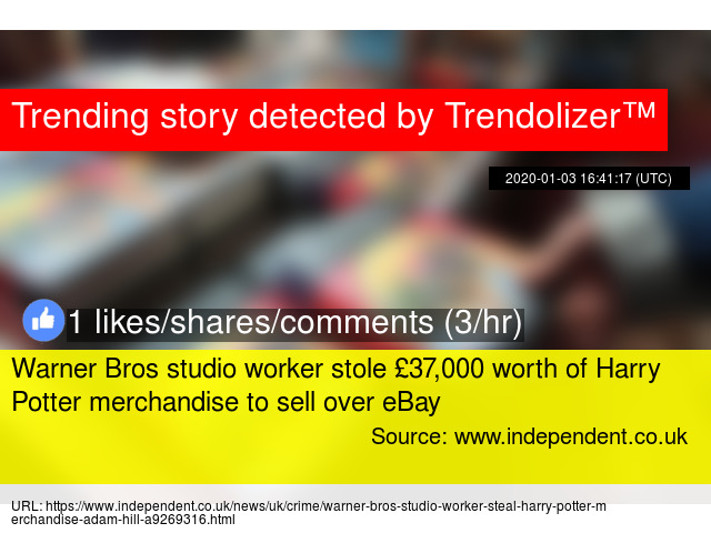 Warner Bros Studio Worker Stole 37 000 Worth Of Harry Potter Merchandise To Sell Over Ebay
