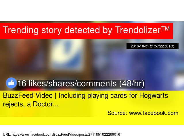 BuzzFeed Video | Including playing cards for Hogwarts
