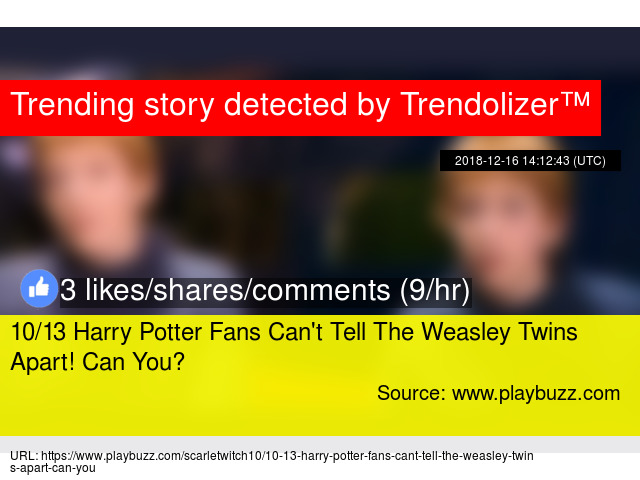 10/13 Harry Potter Fans Can'