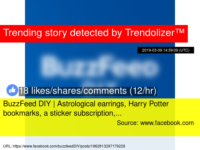 BuzzFeed DIY | Astrological earrings, Harry Potter bookmarks