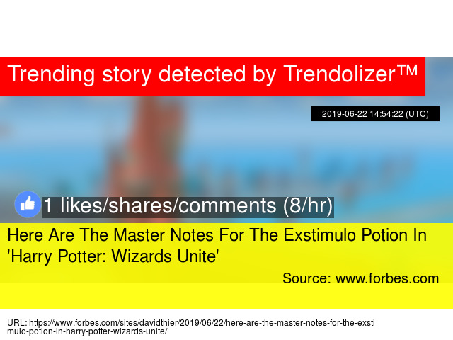 harry potter wizards unite potion master notes